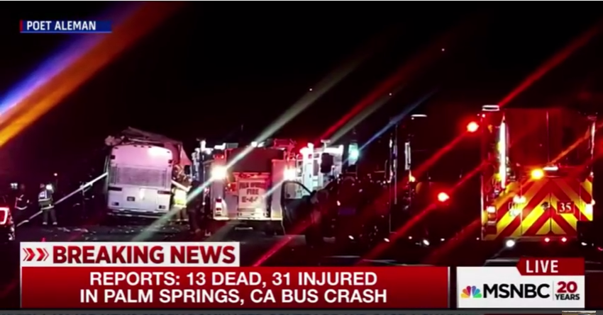 bus, accident, crash, los angeles