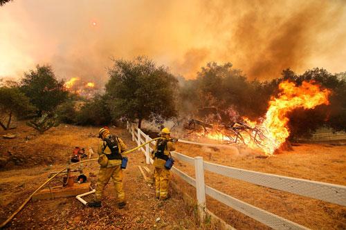 wild fire in Stockton