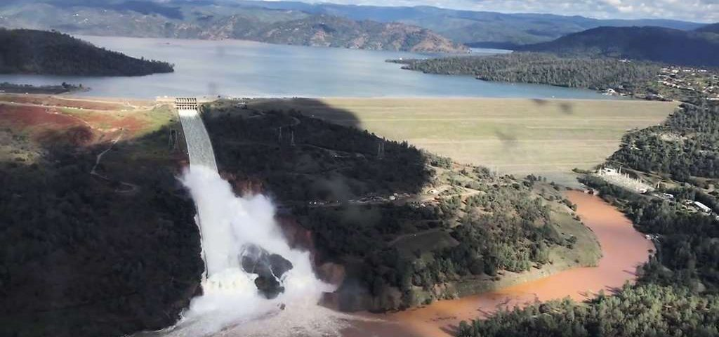 Oroville dam waters damage roads risk